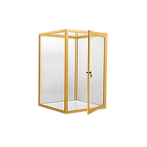 CRL D4041GA Gold Anodized Custom Size Avalon Showcase with Hinged Door on One End