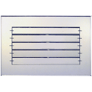 """CRL AMG1280 Clear 12"""" x 8"""" Adjustable Louver Acrylic Mirror Grille"""