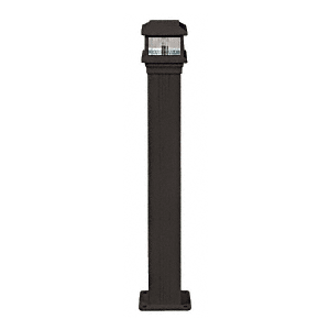 "CRL PCL1BL Matte Black Decorative Cap Light for 4"" x 4"" Vertical Aluminum Post"