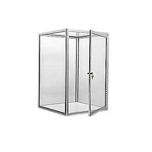 CRL D4043BA Brite Anodized Custom Size Avalon Showcase with Double Hinged Front Doors