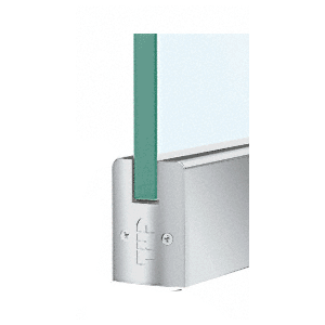 "CRL DR2SSA12C Satin Anodized 1/2"" Glass Low Profile Square Door Rail Without Lock - Custom Length"
