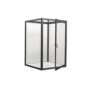 CRL D4042FBL Flat Black Custom Size Avalon Showcase with Hinged Door on Two Ends