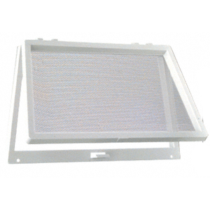 White Plastic Screen Wicket