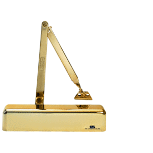 CRL PR70BFBG Brite Gold Anodized Adjustable Spring Power Size 1/2 to 4 Surface Mount Door Closer
