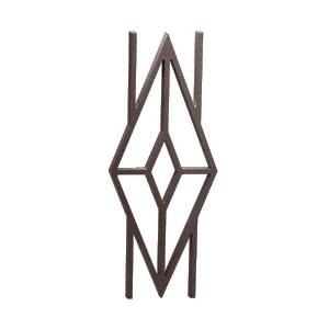 """Matte Bronze 42"""" Diamond Cast Infill"""