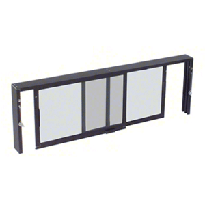 """Duranodic Bronze Horizontal Sliding Service Window XX Format with 1/2"""" Vinyl Only for I.G. No Screen"""