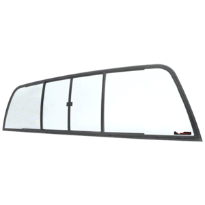 CRL EDV910B Duo-Vent Four Panel Slider with Clear Glass for 1994-1996 Dodge Dakota Standard Cab