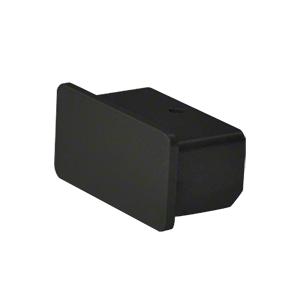 "Hansen ARHECBL Matte Black 1100 Series Quick Connect End Cap for 1"" x 2"" Tubing"