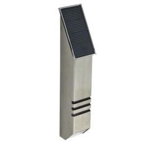 CRL SPLED1BS Brushed Stainless Steel StarLight Solar Powered LED Post Mounted Light