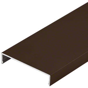 "CRL-U.S. Aluminum CW20122 Face Cap, Bronze Black Anodized - 24'-2"""