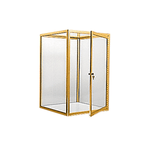 CRL D4042BGA Brite Gold Anodized Custom Size Avalon Showcase with Hinged Door on Two Ends