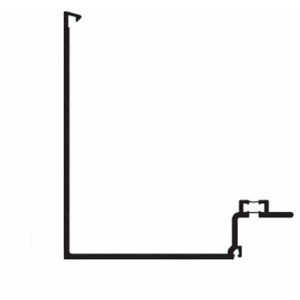 "CRL-U.S. Aluminum FT77599 90 Degree Corner Half Section, Mill- 24'-2"""