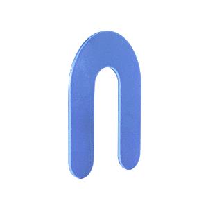 """CRL PHS26 Blue 1/16"""" x 3"""" Plastic Horseshoe Shims"""