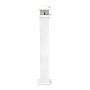"""CRL PCL10W Oyster White Decorative Cap Light for 4"""" x 4"""" Vertical Aluminum Post"""