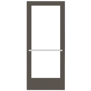 CRL-U.S. Aluminum CD42722R136 Bronze Black Anodized 400 Series Medium Stile Inactive Leaf of Pair 3'0 x 7'0 Center Hung for OHCC w/Standard Push Bars Complete ADA Door(s) with Lock Indicator, Cyl Guard