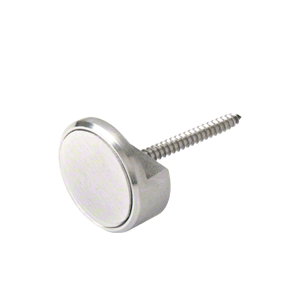 """CRL APC1BS Brushed Stainless 1"""" Panel Clip"""
