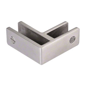 CRL GBC90BS Brushed Stainless 90 Degree Glass Bracing Clamp