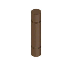 "CRL BLRRV2B Bronze Bollard 9"" Round with Flat Top and Double Line Accents"