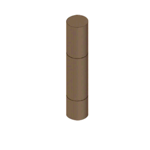 "CRL BLRRV1B Bronze Bollard 9"" Round with Flat Top and Single Line Accents"