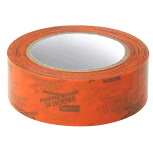 "Marcy ME0072 Orange 1-1/2"" Vinyl Molding Retention Tape - With Warning"
