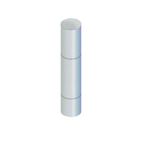"""CRL BLRRV1SPS Polished Stainless Steel Bollard 9"""" Round with Flat Top and Single Line Accents"""