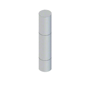 """CRL BLRRV1S Stainless Steel Bollard 9"""" Round with Flat Top and Single Line Accents"""