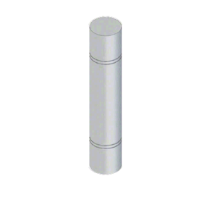 """CRL BLRRV2S Stainless Steel Bollard 9"""" Round with Flat Top and Double Line Accents"""