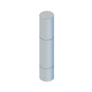 """CRL BLRRV1SND Stainless Steel Bollard 9"""" Round with Flat Top and Single Line Accents - Non-Directional"""