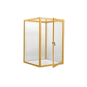 CRL D4040GA Gold Anodized Custom Size Avalon Showcase With Single Front Hinged Door