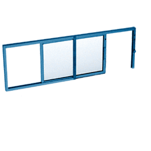 "CRL SW1614P Custom Powder Painted Horizontal Sliding Service Window X- or -X Format with 1/4"" Glass No Screen"