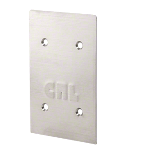 CRL 8BCBS Brushed Stainless End Cap for 8B Series Standard Square Base Shoe