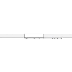 CRL LSWM7BS Brushed Stainless Laguna Series Wall Mount Single Slider with Softbrake Kit