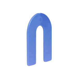 """CRL PHS6 Blue 1/16"""" x 2"""" Plastic Horseshoe Shims"""