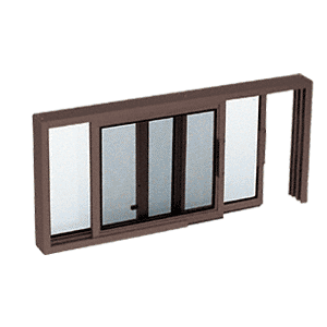 "CRL SW1814DU Duranodic Bronze Horizontal Sliding Service Window XO or OX Format with 1/4"" Glass Only - No Screen"