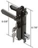 CRL K5092 Black Screen and Storm Security Door Mortise Lock for Academy Doors