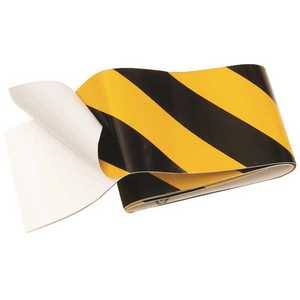 HY-KO PRODUCTS TAPE-1 2 in. x 2 ft. Striped Reflective Vinyl Safety Tape, Yellow and Black