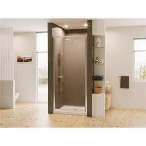 Coastal Shower Doors L22.66B-A Legend 21.625 in. to 22.625 in. x 64 in. Framed Hinged Shower Door in Chrome with Obscure Glass