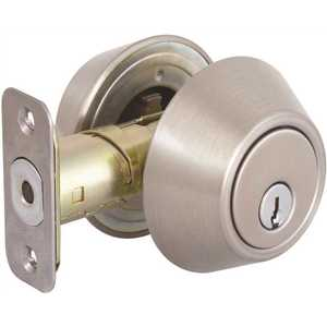 National Brand Alternative DLX22-S-KD Double Cylinder Satin Nickel Deadbolt, SC1 Keyway