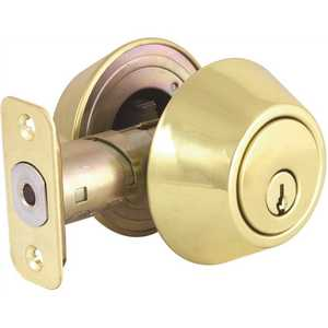 National Brand Alternative DL72-S-KD Double Cylinder Polished Brass Deadbolt, SC1 Keyway