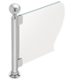 """CRL PP04EPS Polished Stainless 16"""" Round PP04 Elegant Series Counter/Partition End Post With Air Space"""