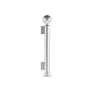 """Polished Stainless 16"""" Round PP04 Elegant Series Counter/Partition End Post With Air Space"""