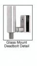 CRL Blumcraft DB131F5G1BS Brushed Stainless Right Hand Glass Mount Cylinder Outside, Thumbturn Inside 'F' Bottom Secured Deadbolt Exterior Handle