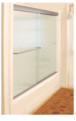 """CRL CK387260BN Brushed Nickel 72"""" x 60"""" Cottage CK Series Sliding Shower Door Kit With Clear Jambs for 3/8"""" Glass"""
