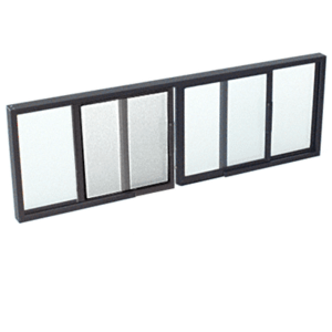 "CRL SW3212DU Duranodic Bronze Horizontal Sliding Service Window OXO Format With 1/2"" Insulating Glass With Screen"