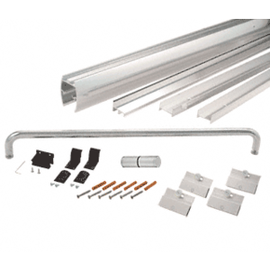 "CRL DK147260BA Brite Anodized 72"" x 60"" Cottage DK Series Sliding Shower Door Kit With Metal Jambs for 1/4"" Glass"