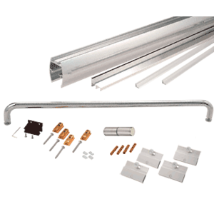 """CRL CK147260BA Brite Anodized 72"""" x 60"""" Cottage CK Series Sliding Shower Door Kit with Clear Jambs for 1/4"""" Glass"""