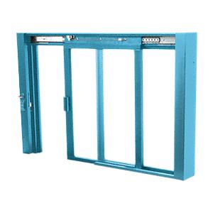 CRL SCDW1801P Custom Powder Painted Self-Closing Deluxe Sliding Service Windows with Aluminum Half Bottom Track