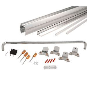 """CRL CK386060BA Brite Anodized 60"""" x 60"""" Cottage CK Series Sliding Shower Door Kit with Clear Jambs for 3/8"""" Glass"""
