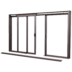 CRL DW2600DU Duranodic Bronze DW Series Manual Deluxe Sliding Service Window OXO without Screen