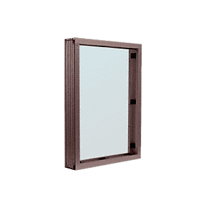 Dark Bronze Aluminum Narrow Inset Frame Interior Glazed Vision Window